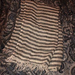 Fog Linen Work striped scarf
